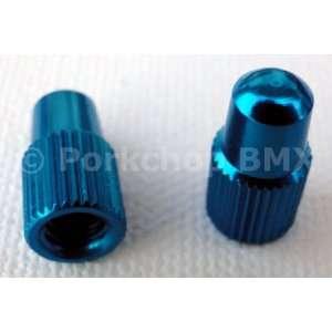 Aluminum Bicycle Valve Caps for PRESTA Valve (pair)   BLUE