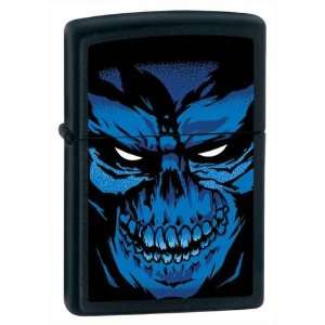 Zippo Custom Lighter   Nightmare Skull on Black Matte