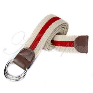 Mens Causal Style Military Canvas Web Belt Metal Buckle