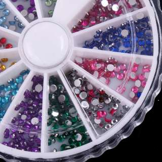 Nail Art Rhinestones Glitter Wheel Glue Acrylic H986