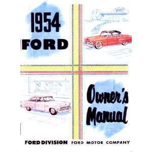 1954 FORD PASSENGER CAR Owners Manual User Guide Automotive