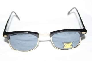 Wayfarer Soho Sunglasses Black Gold Vintage frame night mirror