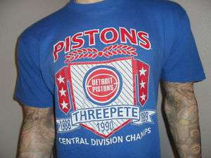 vtg 80s DETROIT PISTONS SHIRT Bad Boys NBA Champs