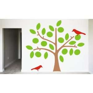 Beautiful Tree with Birds Decal Sticker Wall Vinyl Nature Children