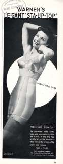 WARNERS BRA & CORSET   GIRDLE AD   Stockings 1943