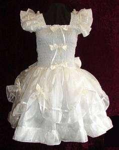 Darling Satin Organza Ivory Adult Baby Sissy Custom Aunt D