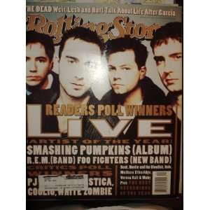 Rolling Stone Magazine, Issue 726, Live cover Various Books