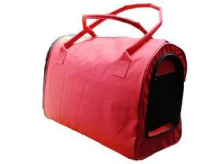 Carrier Bergan Pet Dog Cat Soft Travel Tote Tent Airline Approved Red