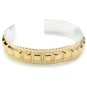 Anna Beck Designs Java Skinny Studded 18k Gold Plated Cuff
