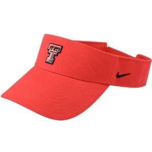 Nike Texas Tech Red Raiders Black Logo Visor Sports