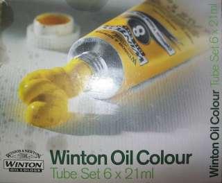 WINSOR & NEWTON WINTON OIL COLOUR 6pc TUBE SET/6 x 21ml