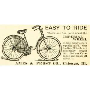 1893 Ad Ames Frost Antique Imperial Wheel Bicycle Bike Cycling Biking