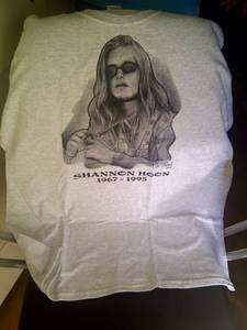 Shannon Hoon 2011 Vigil T Shirt   Both front and back Print