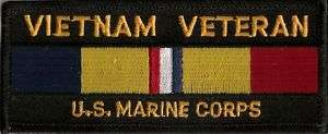 Vietnam Veteran US Marines Combat Action Ribbon Patch