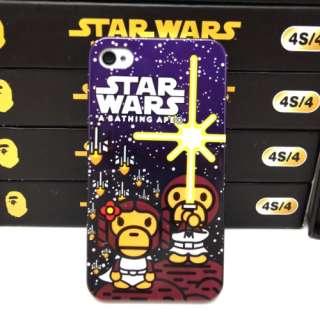 Bathing Ape (Bape) x Star Wars iPhone 4 4S Hard Case style A