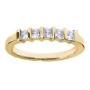 Diamond Ring in Princess Cut Diamonds Bar Setting   Includes Appraisal