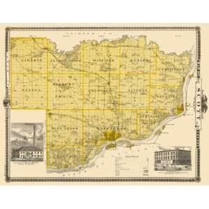 SCOTT COUNTY IOWA (IA) LANDOWNER MAP 1875