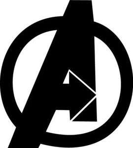 Avengers Logo Vinyl Sticker Decal Marvel Iron Man Choose Size And