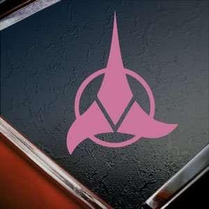 KLINGON Star Trek Pink Decal Enterprise Window Pink