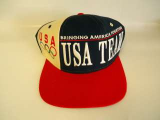 STARTER Snapback OLYMPICS Hat Cap USA TEAM America Red White Blue