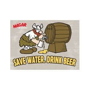 Hagar The Horrible Save Water Magnet HM2316: Kitchen