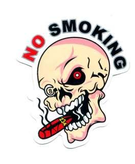 Skull No Smoking Cigar Car ATV Vinyl Decal Sticker Q84