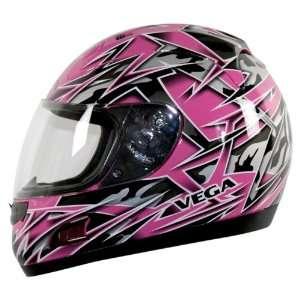 Vega Altura Pink Metallic Havoc Graphic Medium Full Face