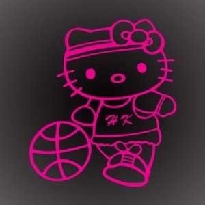 HELLO KITTY BASKETBALL PINK DECAL STICKER 6X5