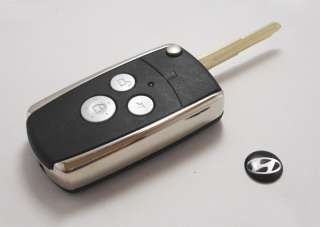 Remote Flip Folding Key Shell Case For Hyundai Sonata Accent