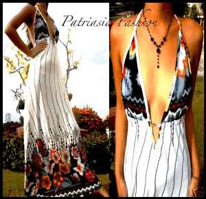 New White Sexy Ladies Long Maxi Dress M/L 6 8 10 12 14