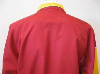 Mens USC TROJANS Football Athletics Embroidered Logo Red Windbreaker