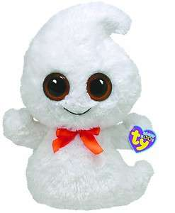 White GHOST plush stuffed animal cute halloween gift soft LAGE 13 bow