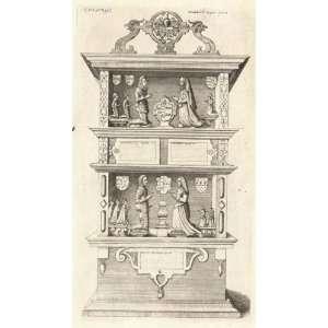 Print Wenceslaus Hollar   Baker (monument) (State 2)