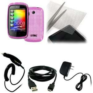 EMPIRE HTC Explorer Hot Pink Poly Skin Case Cover + Universal
