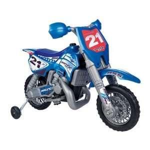Febercross SXC 6V Dirt Bike in Blue Toys & Games