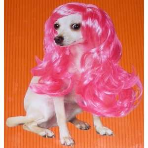 Pet Costume Glam Wig (Pink)