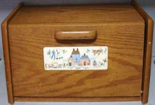International Heartland BREAD BOX Vintage Kitchen Wood Holder American