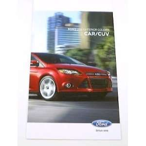 2012 12 FORD Exterior Paint COLOR Chip CHART Brochure: Everything Else
