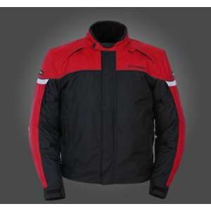 Tourmaster Jett 3 Mens Motorcycle Jacket Red/Black Extra Large XL 8756
