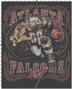 NFL Atlanta Falcons RB counted cross stitch pattern