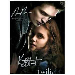 The Twilight Saga Robert Pattinson & Kristen Stewart Autographed Hand
