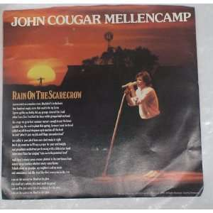 Vintage 9 45rpm Vinyl Record  John Cougar Mellencamp Rain on the