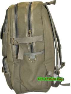 NWT Mens Army green Canvas School Backpack 1014