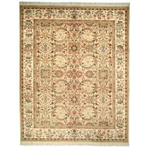 Hand knotted Beige and Ivory Wool Area Runner, 2 Feet 6 Inch by 4 Feet