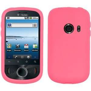 High Quality Amzer Silicone Skin Jelly Case Baby Pink For Huawei Comet