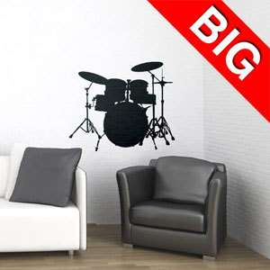 DRUM SET  VINYL WALL DECAL STICKER ART  HOME DECOR 894708001090