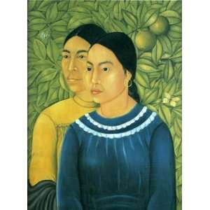 Kahlo Art Reproductions and Oil Paintings Two Women Oil