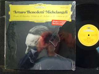 CHOPIN Michelangeli MAZURKAS et German DGG STEREO LP NM