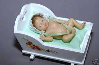 Ashton Drake Musical Cradle Hush Little 3 Resin Baby Girl Doll NIB