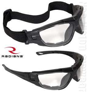 Radians Cuatro Anti Fog Clear Lens Safety Glasses Padded Goggles Z87.1